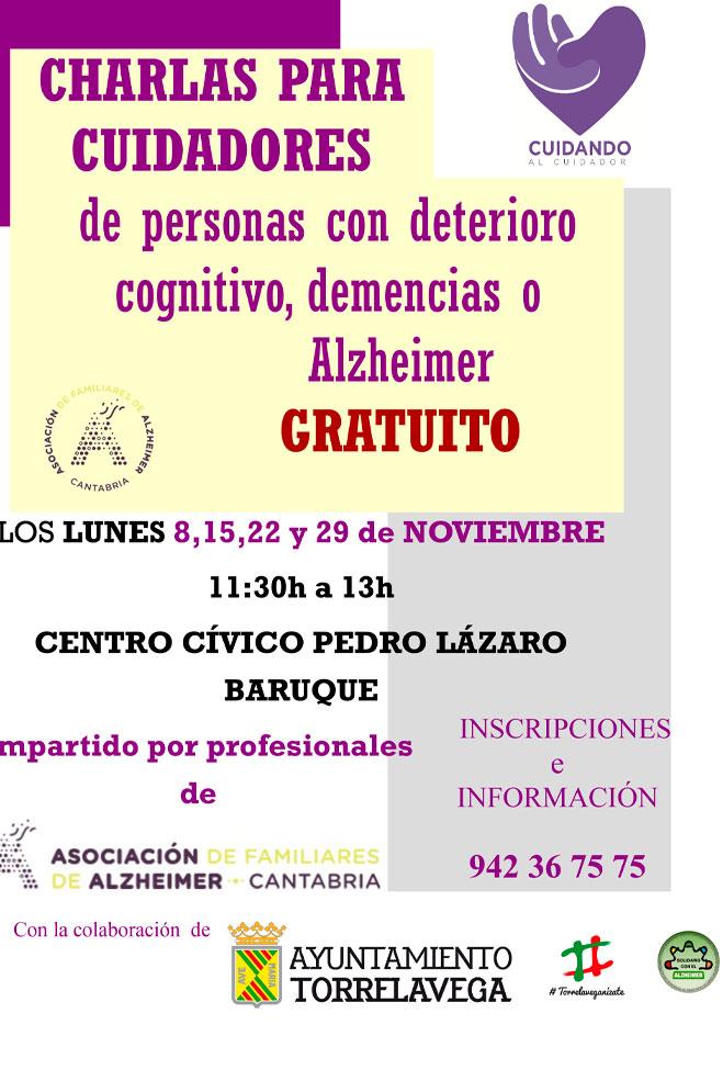 AFA organiza charlas para cuidadores de personas con demencias o Alzheimer en Torrelavega