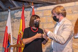 Dolores Gorostiaga recibe el título de Merino Mayor de los Nueve Valles 2021